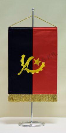 Angola hímzett asztali zászló