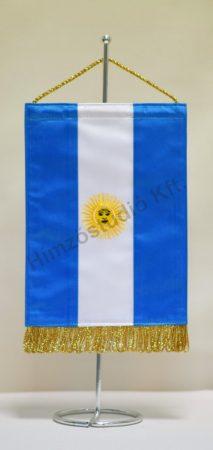 Argentína hímzett asztali zászló