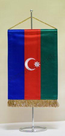 Azerbajdzsán hímzett asztali zászló
