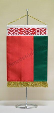 Fehéroroszország (Belarusz Köztársaság) hímzett asztali zászló