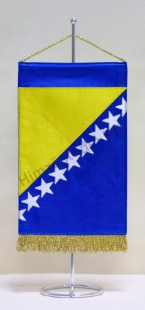 Bosznia-Hercegovina hímzett asztali zászló