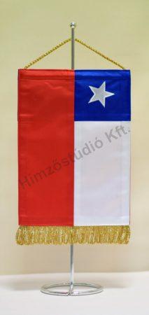 Chile hímzett asztali zászló
