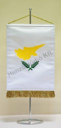Ciprus hímzett asztali zászló