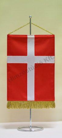 Dánia hímzett asztali zászló