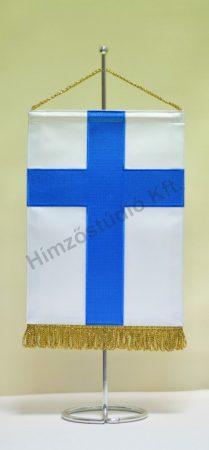 Finnország hímzett asztali zászló
