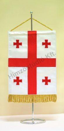 Grúzia hímzett asztali zászló