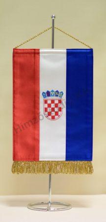 Horvátország hímzett asztali zászló
