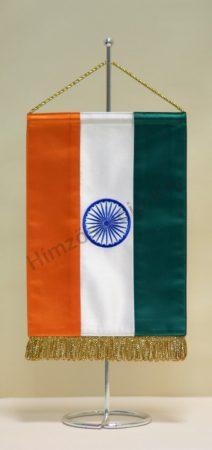 India hímzett asztali zászló