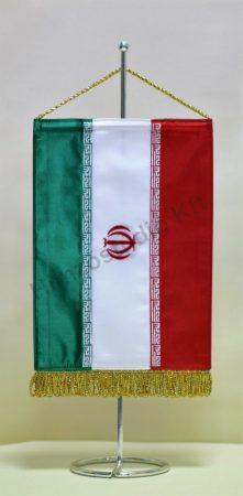 Irán hímzett asztali zászló