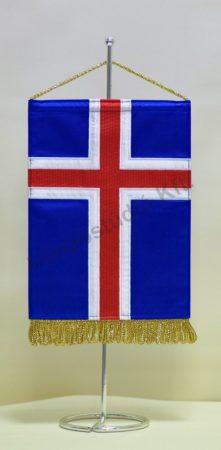 Izland hímzett asztali zászló