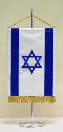 Izrael hímzett asztali zászló