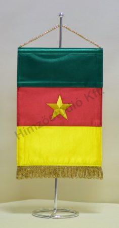 Kamerun hímzett asztali zászló