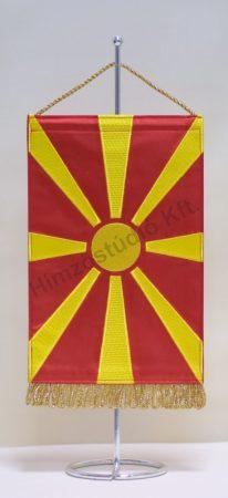 Macedónia hímzett asztali zászló