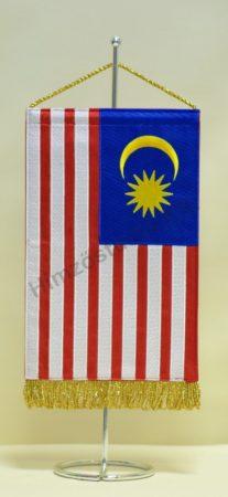Malajzia hímzett asztali zászló