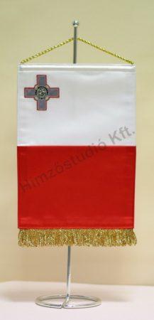 Málta hímzett asztali zászló