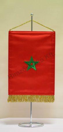 Marokkó hímzett asztali zászló