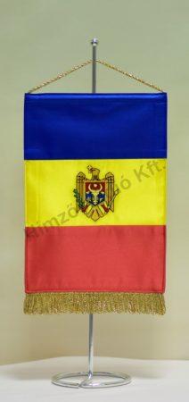 Moldávia hímzett asztali zászló