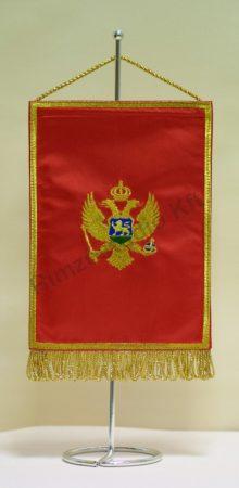 Montenegró hímzett asztali zászló