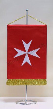 Máltai Szeretetszolgálat hímzett asztali zászló