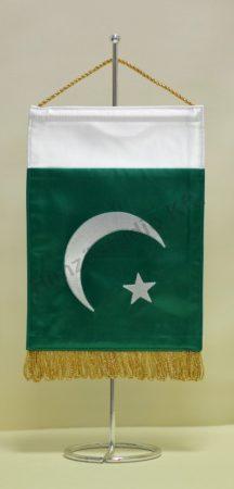 Pakisztán hímzett asztali zászló