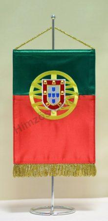 Portugália hímzett asztali zászló