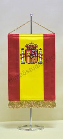 Spanyolország hímzett asztali zászló