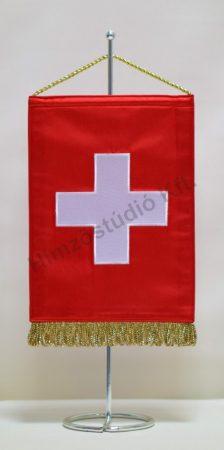 Svájc hímzett asztali zászló