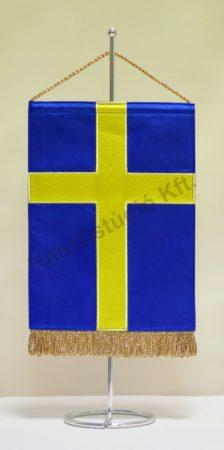 Svédország hímzett asztali zászló