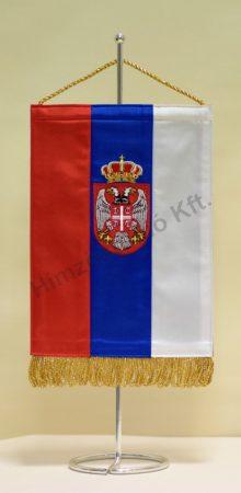 Szerbia hímzett asztali zászló