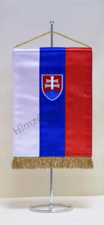 Szlovákia hímzett asztali zászló