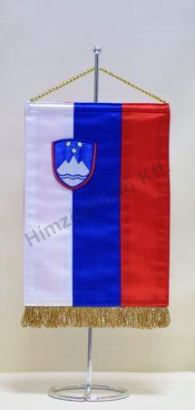 Szlovénia hímzett asztali zászló