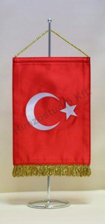 Törökország hímzett asztali zászló