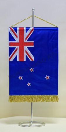 Új-Zéland hímzett asztali zászló
