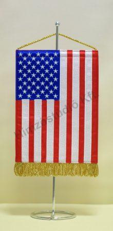 Amerikai Egyesült Államok hímzett asztali zászló