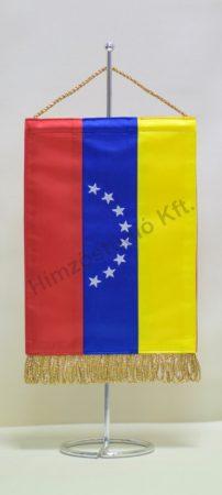 Venezuela hímzett asztali zászló