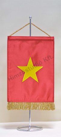 Vietnam hímzett asztali zászló