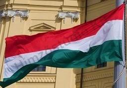 Kültéri, nyomott címeres magyar zászló egyrétegű